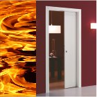 fire pocket door header